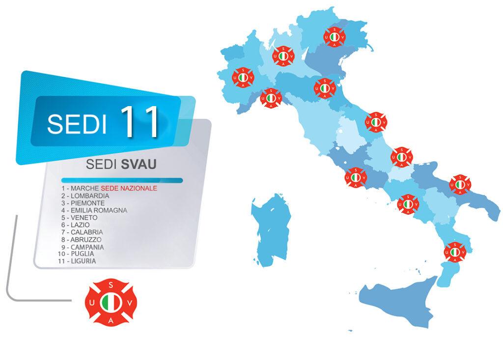Mappa sedi SVAU